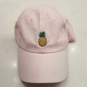 Forever 21 Hat Pink pineapple baseball cap